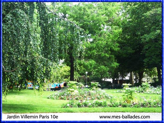 Le jardin villemin dans paris 75010 for Jardin villemin